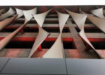Tensile Facade Parking Garage | TensionStructures.com