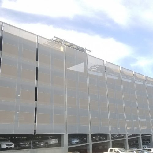 Tensile Facades Parking Garage | TensionStructures.com