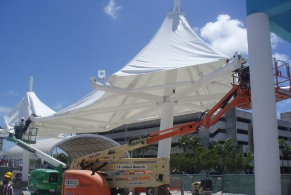 Exploring the Installation Process for Design-Build Tensile Membrane Construction Projects