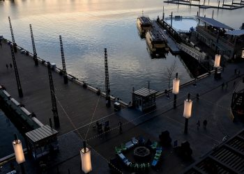 DC Wharf Lanterns | Tension Structures