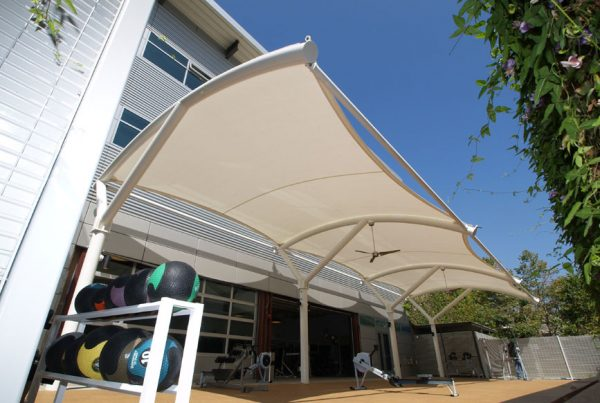 PTFE Coated Fiberglass Membrane on UCLA Kinross Fitness | Tension Structures