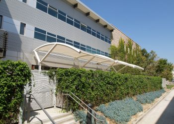 PTFE Coated Fiberglass Membrane on UCLA Kinross Fitness | Tension Structures