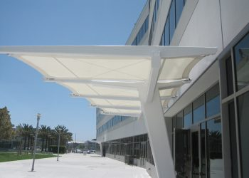 Tensile Fabric Architecture & Business Parks_Southern California Entrance Canopy
