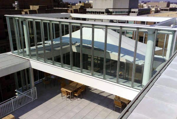 Tensile Fabric Architecture & Business Parks_Washington DC Rooftop Canopy