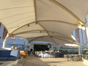 Tensioned Membrane Architecture for Convention Center