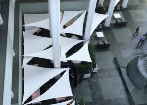 The Benefits of a Tensioned Fabric Roof for Atriums & Courtyards