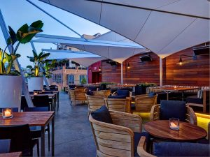 Fabric architecture for restaurant patios