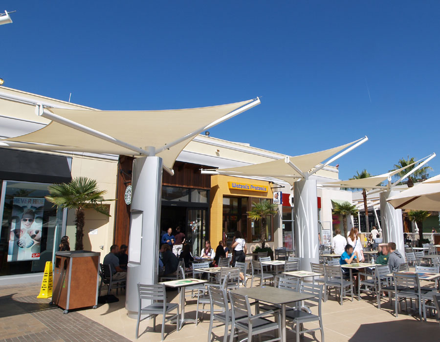 Fashion valley mall san diego ca tension structures for Shade cloth san diego